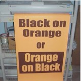 Poster Printer Paper Black on Orange