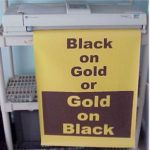 Black ON Gold Poster Paper