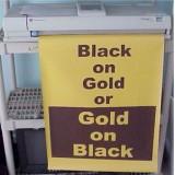 Poster Printer Paper Black on Gold