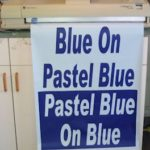Poster Paper, Blue On Pastel Blue, 23 x 100'