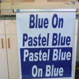 Poster Printer Paper Blue on Pastel Blue