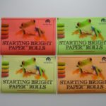 Starting Bright Paper Rolols, 4 colors- Bright yellow, Orange Red and Green