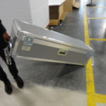 poster printer carrying case on wheels