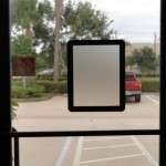 """Easyboard window display covers, magnetic lining, for fast and quick change displays, announcements, menus, etc., portrait or landscape, black frame 8 1/2"""" x 11""""."""