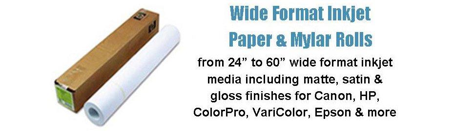 Wide Format Inkjet Paper & Mylar Rolls