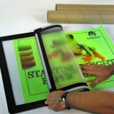 Easyboard New Foldable Exhibitor Display Boards, unfolds fast. Peel back the flexible plastic cover and insert your new paper display for a lot less than dry mounted or laminated presentation materials.